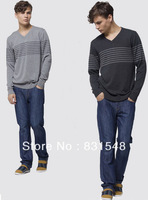 2013 Winter  Hot Sale  Men's V-Neck Casual  Sweater Free Shipping 3 colors M/L/XL/XXL