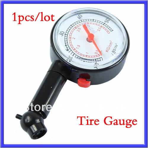 B39Free Shipping Car Motor Dial Tire Gauge Meter Pressure Tyre Measureement Tool(China (Mainland))
