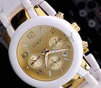 Personality imitation ceramic white strap men quartz watches Free shipping!