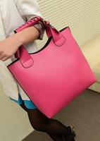 2013 new candy color handbags ;retro bucket bag ; women PU leather messenger bags ; bolsas femininas bolsos mujer totes