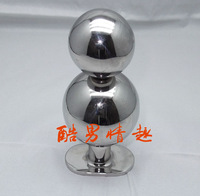 Free shipping adult sex toys products,metal anal toys,110mm long stainless steel anal beads,anal butt plug steel