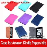 "Promotion 200 Slim Magnetic Folio Auto Sleep Leather Case Wake Sleep Function Smart Cover For Kindle Paperwhite 6"" eReader Case"