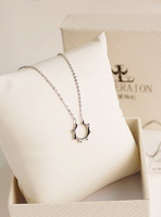 Fall in love 18k platinum necklace gift box gift