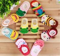 0-2 Years Old Kids Cute Cotton Anti-slip Baby Walking Socks 1000pairs/lot Free Shipping