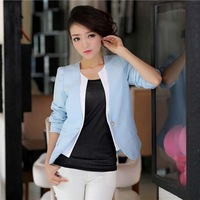 2013 female blazer outerwear long-sleeve spring and autumn slim women's all-match one button suit  blaser