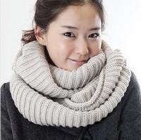 Fashion Women Warm Knit Neck Circle  Cowl Snood Long Scarf Shawl Wrap