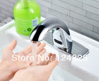 high quality automatic infrared bathroom basin sensor faucet hot and cold water mixer touchless faucet hands free tap save water(China (Mainland))