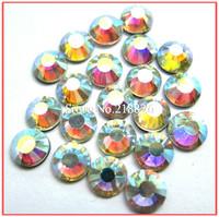 Super Shine! More Clear A+ DMC Rhinestone Crystal AB ss20(4.8-5.0mm)14400pcs/bag Hight Quality DIY Hot Fix Crystals
