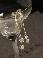 Fall in love high quality sparkling exquisite diamond long tassel fashion earrings earring