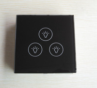 Home Touch Switch 3 Gang UK Type,Free Shipping