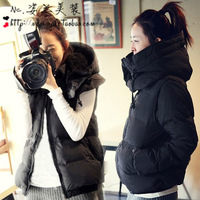 Wadded jacket winter 2013 short design thickening two ways women's black cotton-padded jacket women's plus size