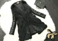 Women Genuine Raccon Fur and Sheep Leather Coat Raccon Fur Outerwear Winter Fur Jacket TP9051