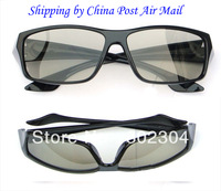 Passive Real D circular  polarized 3d glasses+Free shipping by China Post air mail