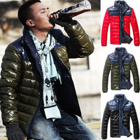 SALE 2013 waterproof men's hood wadded jackets Men's coat Winter overcoat mens jackets and coats WHOLESALE Free Shipping