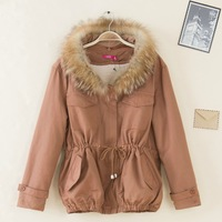 2013 winter maomao cotton-padded jacket collar thermal cotton-padded jacket female