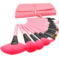 2013 Professional 24 Makeup Brush Set Tools Make-up Toiletry Kit Wool Brand Make Up Brush Set free shipping