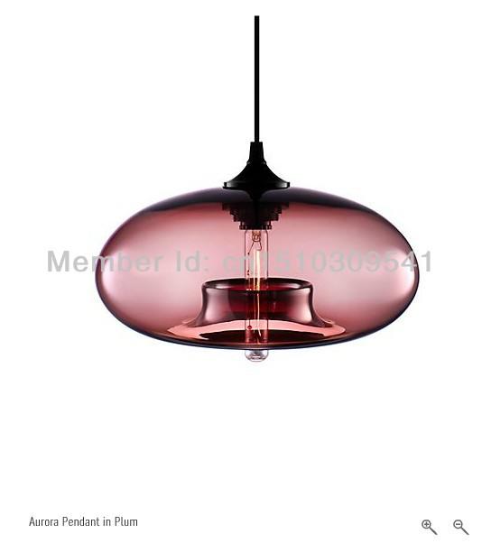 Frei schiff italien design moderne glas-pendelleuchte mode anhänger lichtkunst bar lampen Jeremy pyles Aurora moderne pendelleuchte