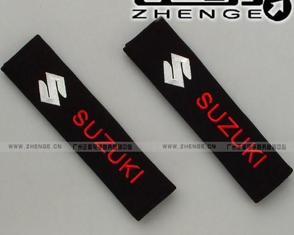 flannelette Car seat belts Cover For SUZUKI Swift Alto Splash SX4 Jimny Kizashi Wagon R Grand Vitara Lapin(China (Mainland))