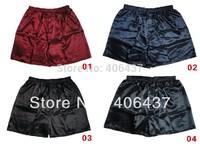 2014 Men's Silk Sleepwear Underwear Homewear Men Underpants Boxers Shorts Size L,XL,XXL Colorful assorted Free Shipping