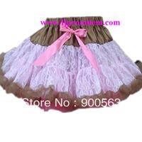 chocolat lace skirt tutus, Free shipping ,lace pettiskirts