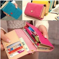 Ladies Girls Envelope Purse Clutch Bag Coin Card Phone Holders Wallet Short Case Handbag Wristband 4 colors Free Shipping