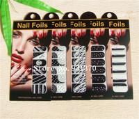 Hot SALE 100set 16 styles (12 pcs/set) optional Nail Polish sticker French Manucure Nail Patch