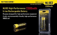 NEW 2 Pack Nitecore NL183 2300mAh 18650 Protected Rechargeable Batteries