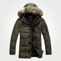 2013 Winter Men's Clothes Tooling Down Coat Thickening Male Down Coat Male Clothing Outerwear