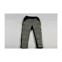 2013 Children Girl Pants for princess, black and white decorative pattern and zipper for girls winter retail and wholesale