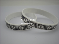 Music Note Logo Wristband, I love Music Bracelet, Printed Band, Promotion Gift, Adult, 100PCS/Lot, Free Shipping