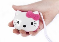 Free Shipping HIFI Mini Speaker MP3 Player Amplifier Micro SD TF Card USB Disk Computer Speaker with FM Radio kitty style 100pcs