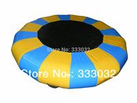High quality! 3m diamter inflatable water jumping bed Trampoline 0.9mm PVC tarpaulin UL air pump
