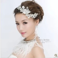 Free Shipping! Fashion Wholesale Luxury Lace And Rhinestone Bridal Hair Accessories Wedding Hair Jewelry HG214