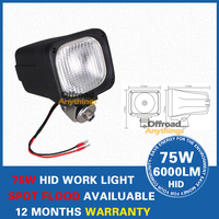 "4 PCS 4"" 55w HID Working Light, Free shipping!6000 lumens ABS housing 75w hid xenon working light ,offroad fog light"