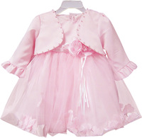 Children's clothing female child baby princess dress baby dress petals one-piece dress set