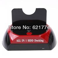 "All in One USB Esata 2.0 2.5""/3.5"" SATA HDD Docking Station e-SATA OTB Car Reader Wholesale Free Shipping Shipping"
