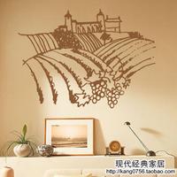 Free Shipping Mc201 wine wall stickers