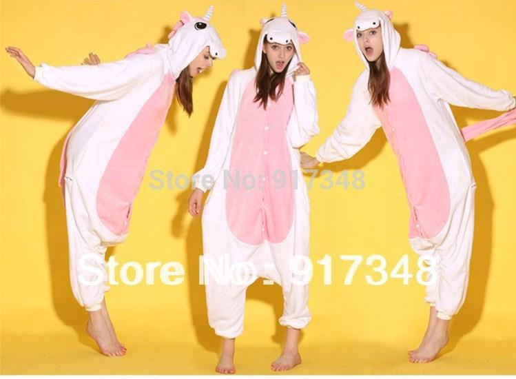 Rose blanc poney licorne onesies animaux body pyjama combinaison