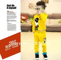 Fashion Sports Suit Boy Clothing Sets Sport Kids Costumes Long-sleeve + Pants Winter Outfits New Years Gift