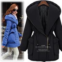 Winter medium-long 2013 female wadded jacket plus size slim thermal cotton-padded jacket cotton-padded jacket thickening