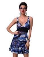 новые моды женщин цветочные классические случайные винтажное платье Талль талии платье clubwear платье x4152