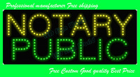 20pcs/lot  NOTARY PUBLIC  2013 New Style Free Shipping  LED  SIGN  Best service