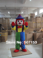 Lovely Clown Mascot Costume Cartoon Fancy Dress
