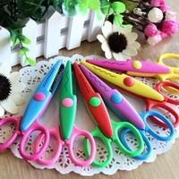 free shipping Wave lace Edge Craft school DIY Essential for Scrapbook Handmade Artwork Card  Child safety scissors( 6 design)