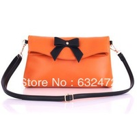 2013 new women's bag / PU leather shoulder bag leisure Mobile Messenger bag bow