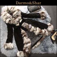 Fox fur coat leather clothing medium-long female 2013 plus size one piece fur outerwear