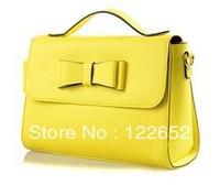 2014 new Spring female genuine leather bow handbag women's bag free shipping