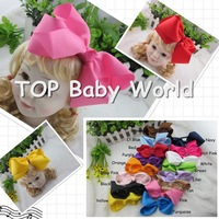 6inch big bow with satin covered girls hair band baby headband kids hairbands baby hair accessories,16pcs/lot free shipping
