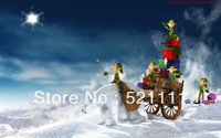 6ft*6ft  Vinyl Computer Printed Background Photography backdrop for Christmas SD023