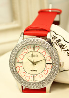 New arrival time all-match fashion table large dial rhinestone dial women's watch student watch
